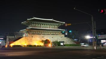Originally called Heunginjimun, Dongdaemun Gate (East Main Gate) is Treasure No.1. Dongdaemun Gate was built by King Taejo in 1396, renovated by King Danjong in 1453, and its present structure was built by King Gojong in 1869. The most interesting characteristic of Dongdaemun Gate is that it has a specially built outer wall, usually a half-moon shape, that surrounds a city wall. The area where Seoul Palace was built was a low region, and difficult to defend from invaders, so they built this wall to counter such disadvantages. - Visitkorea