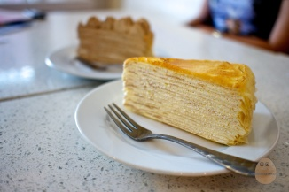 Crepe Cake at Nadeje. These were immensely popular amongst the school kids 10-15 years ago. Now they've all grown up, the franchise has also grown with them. Yet, the taste still remains largely the same.