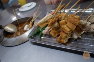 "Satay celup - almost synonymous with Malacca, it's one of those things you have to try when you're in Malacca. The pretentious ones will go all ""eww"" and ""disgusting"", because that pot of sauce in the middle never gets changed. But who are we kidding, here? Does that really bother you?"